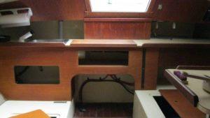 Pearson Sailboat Inside Cabin