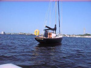 1966 Alberg 30 Sloop Anchored