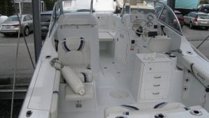 21' Polar Outboard Boat 2100DC cockpit