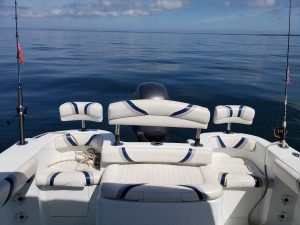 21' Polar Outboard Boat 2100DC aft seats